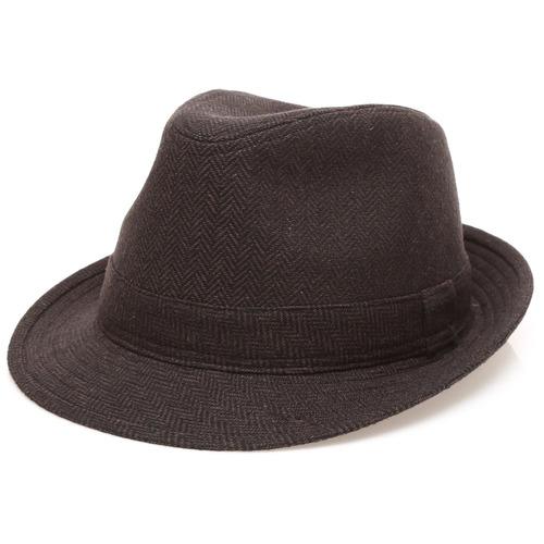 Sombrero Fedora Con Banda De Ala Corta Mimmaru De Mezcla. a528fad30e0