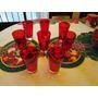 Aproveche Set De Vasos Rojos X8 Marca Cristar Nvo S/.69.99!!