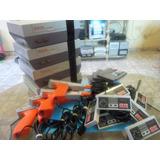 Nintendo Nes Set Completo, Listo Para Conectar Y Jugar.