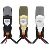 Micrófono Condensador Mini Tripie Plug Semiprofesional Nuevo