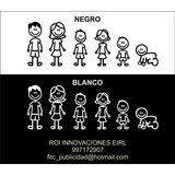Sticker Familia Para Auto Camioneta O Cualquier Lugar