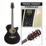 Guitarra Electroacústica Fra95scet Color Negro, Freeman