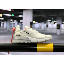 0de8dca1b5 Zapatillas Nike Air Max 270 Off White Blanco / Caja Original