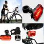2 Luces Led Timon Y Asiento Bicicleta Seguridad Y Presencia