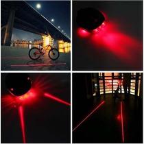 Luces Led Laser Traseras Para Bicicleta