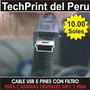 Cable Usb 5 Pines Con Filtro - Camaras Digitales - Mp3 - Mp4