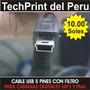 Cable Usb 5 Pines Con Filtro - Camaras Digitales - Mp3 - Mp4