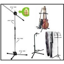 Pedestal De Guitarra,micro,partituras/sonidoscastillo