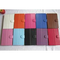 Estuche Funda Cuero En Colores / Tablet 7 Pulgadas