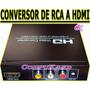 Convertidor De Rca A Hdmi Conecta Tu Dvd Play 2 A Tu Tv Hd
