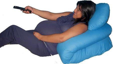 Doblado te mantendrá reclinada para respirar mucho mejor