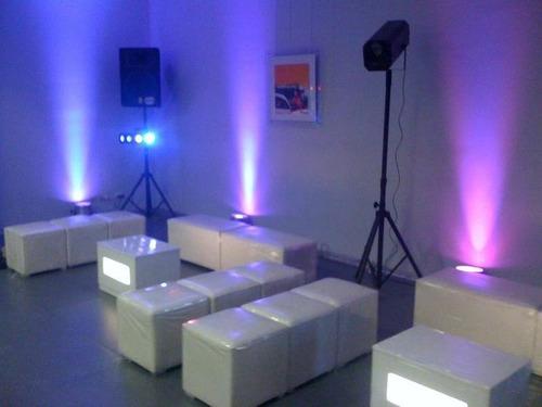 Alquiler Muebles Y Salas Lounge, Led, Sillas Altas, Open Bar  Lima