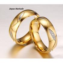 Aros De Matrimonio Enchapados En Oro De 18 Kl