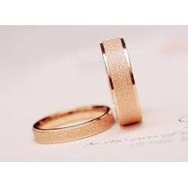 Aros De Matrimonio Diamantados Bañados En Oro Rosa
