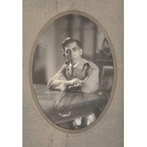 Antiguo Retrato Autografiado De Sanchez Cerro. Dubreuil
