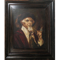 Oleo Europeo Con Marco - Antigua Pintura Holandesa