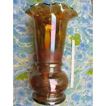 Mundo Vintage : Antiguo Florero Multicolor Brillo Metalico