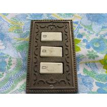 Mundo Vintage: Antigua Interruptor De Luz Bronce X Revisar