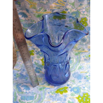 Mundo Vintage: Antiguo Florero Murano Azul
