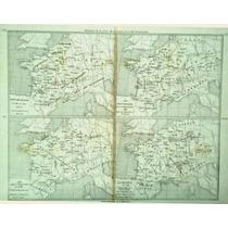 Antiguo Mapa Historíco Frances De Eustrasia Y Neustria. 1860