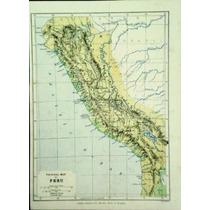 Antiguo Mapa Físico De Perú (1860) Edward Weller
