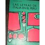 Las Letras De Italia En El Perú