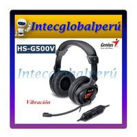 Audifono Gamer Genius Hs-g500v Con Microfono - Vibración