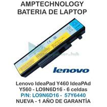 Bateria Laptop Lenovo Ideapad Y460 Y560 Lo9n6d16 6 Celdas
