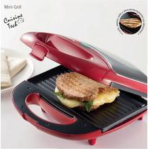 Sandwich Grill Rojo Marca Cuisine Tech Modelo Isg014c Nuevo