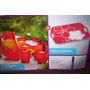 Set De 8 Vasos + Jarra De 1.8l + Bandeja Color Rojo ¡¡nuevos