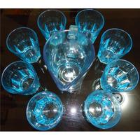 Set Jarra + Vasos 9 Piezas Lisboa Cristar 60 Soles