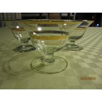 Antiguas Copas De Cristal Para Champagne Con Filo Dorado