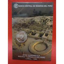 Peru 2 Blisters Moneda De Un Nuevo Sol Ciudad Sagrada Caral