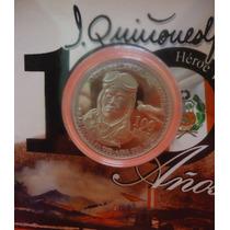 Peru Moneda Alusiva A Jose Abelardo Quiñones De Plata Unc