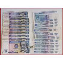 Dante42 Lote 11 Billetes Antiguo Peru 10 Intis 1985 86 87