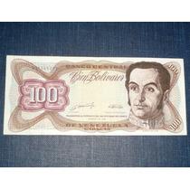 Billete 100 Cien Bolívares 1989 Venezuela Simón Bolívar Raro