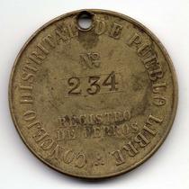 Peru Medalla Consejo Distrital De Pueblo Libre