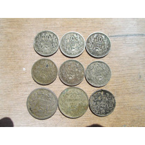 Chile Lote De 9 Monedas Antiguas En Subasta