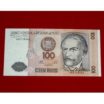Antiguo Billete 100 Cien Intis Ramón Castilla 1987 Perú