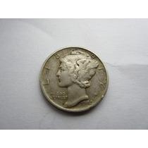 1 Un Dino De Dolar De Plata De 9 Decimos-un Dime