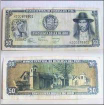 Dante42 Peru Billete Antiguo 50 Soles Oro 15 Diciembre 1977
