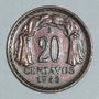 Moneda Chile Chilena 20 Centavos 1943 Bernardo O Higgins