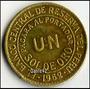 Peru Moneda Antiguo Bronce Un Sol De Oro 1962