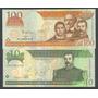 Republica Dominicana 2002, Lote 2 Billetes De 10 Y 100 Pesos