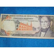 Billete De 50 Bolivares