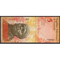 Venezuela 2009, Billete De 5 Bolivares