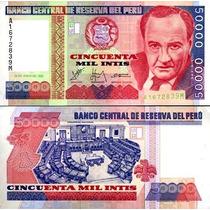 Perú 50,000 Intis 28 De Junio 1988 Completamente Nuevo!!!!!!