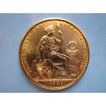 Moneda Oro Peru 20 Soles Oro Libra Libertad Año Vario Escasa