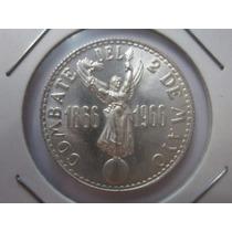 Moneda Plata Peru 1966 Combate Del 2 De Mayo 20 Soles De Oro