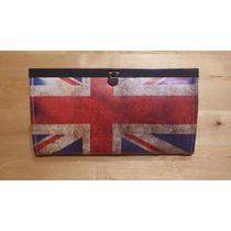 Billetera Con Bandera De Gran Bretaña, Importada De España